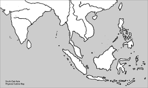 physical map of asia blank outline map of southeast asia mexico map