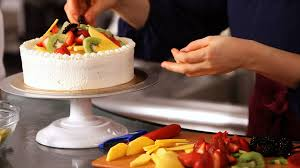how to decorate a cake with fruit cake decorating youtube