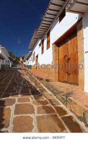 Colonial American Homes by Barichara Santander Colombia South America Street Colonial