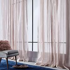 Dusty Curtains Sheer Metallic Printed Curtain Dusty Blush Window Treatments