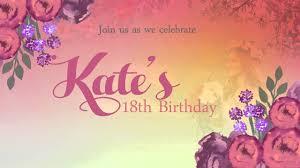 Invitation Card Debut Animated Invites 18th Birthday Sample Youtube