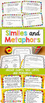 similes and metaphors activities and task cards simile language