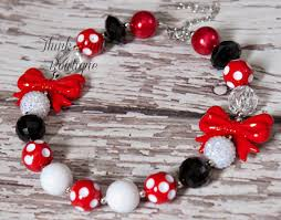 aliexpress bead necklace images Children beaded bow necklace fashion jewelry little girls chunky jpg