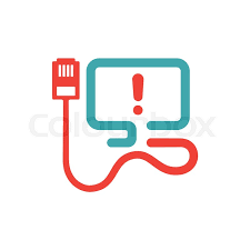 optic cable error icon vector illustration disconnection icon on