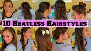 Easy Country Hairstyles by 10 Back To Heatless Hairstyles Youtube