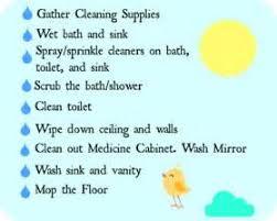 bathroom cleaning supplies list plan walkthrough escape the