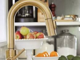 steel centerset brushed brass kitchen faucet single handle pull