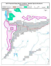 Lake Merritt Map Western Spruce Budworm 2013 Spray Program Tor