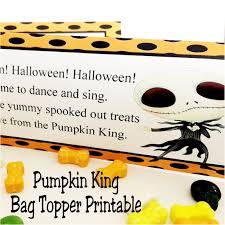 the pumpkin king halloween bag topper printable everyday parties