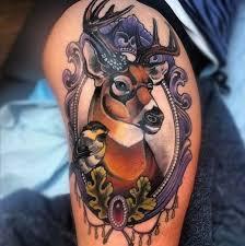 35 absolutely staggering deer tattoos inkdoneright