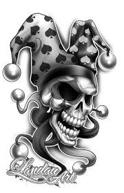 twisted skull cross tattoo drawing