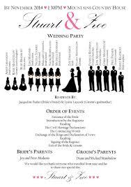 Order Of Wedding Program Wonderfull Order Of Wedding Party Image Greek 16705 Johnprice Co
