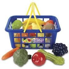 Kids Picnic Basket Kids Shopping Basket Fruit U0026 Veg Children U0027s Role Play Toy Pretend