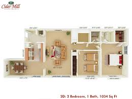 2 Bedroom House Plans Pdf Cider Mill Apartments Floor Plans