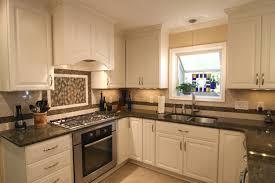 White Kitchen Cabinets And Black Countertops How To Finishing Antique White Kitchen Cabinets Home Design Ideas