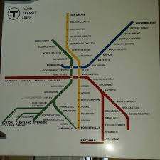 Red Line Mbta Map by Mbta Map From The 1970s With Old Stations And Names Boston