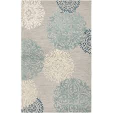 Solid Gray Area Rug by Rizzy Rugs Etta Light Gray U0026 Blue Floral Area Rug U0026 Reviews