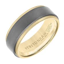 gold band engagement wedding bands his lasker jewelers