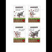 minecraft cards minecraft wolf valentines day cards for 5 00 valentines day cards