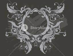baroque floral ornament vector illustration royalty free stock