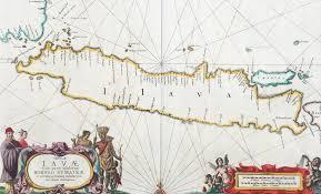 Batavia World Map by 1650 Jansson Large Old Antique Map Java Batavia Indonesia Dutch