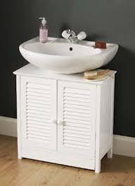 louvre door undersink bathroom cabinet amazon co uk kitchen u0026 home