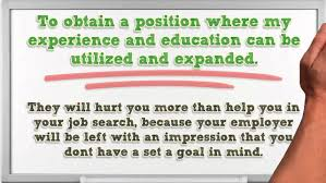 Sample Of Job Objective In Resume by How To Write An Effective And Original Objective Statement Youtube