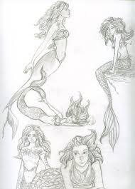 mermaid sketch page by icepearl14 on deviantart