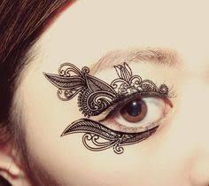 henna eye makeup temporary tattoo henna eye makeup my style