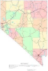 Las Vegas Boulevard Map by Nevada Map