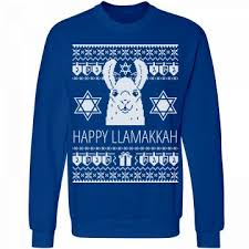 happy hanukkah sweater hanukkah sweater llama