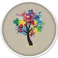 259 best tree cross stitch embroidery images on