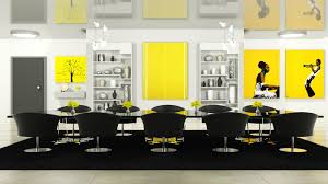 black meeting room chairs with chrome base placed on rectangle