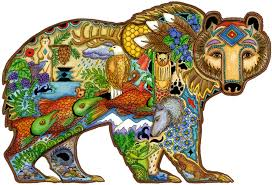 grizzly bear wooden jigsaw puzzle liberty puzzles made in