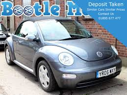 black volkswagen bug 2005 volkswagen beetle 1 6 s convertible in grey black hood 52 000
