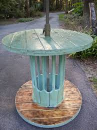 cable reel wooden and coffee tables on pinterest wire spool table