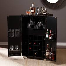 cape town contemporary bar cabinet black set of 1 hz1041