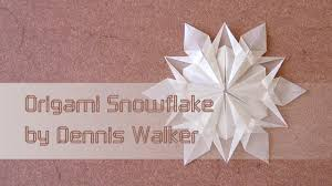 christmas origami instructions snowflake dennis walker youtube