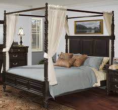 Black King Canopy Bed New Classic Martinique Rubbed Black Cal King Canopy Bed With