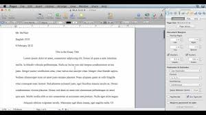 how to write an mla format paper mla formatting pages 09 mac os x youtube