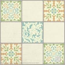 Trompe L Oeil Wallpaper Ceramic Tiles Trompe L U0027oeil Wall Stencil Royal Design Studio