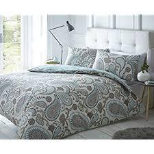 pieridae paisley teal duvet cover u0026 pillowcase set bedding digital