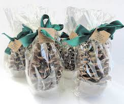 25 pinecone fire starter winter wedding party favor emerald