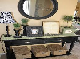 entry table with storage space storage decorations