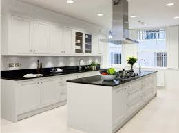 Modern White Kitchen Cabinets Photos Modern White Kitchens Beautiful Chandelier Hang On The Ceiling