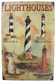 wooden lighthouse wall plaque decor 24 style novelty