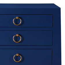Navy Side Table District17 Jacqui 3 Drawer Side Table Navy Blue Nightstands