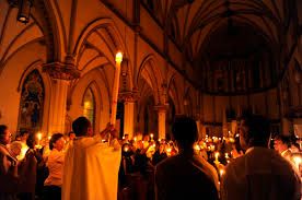 vigil lights catholic church darkness fire and light the wonders of easter remembrance hope