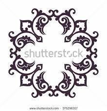 seamless background silhouettes mandalas islam stock vector