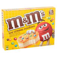 m u0026m u0027s ice cream cookie 6 ct 24 fl oz walmart com